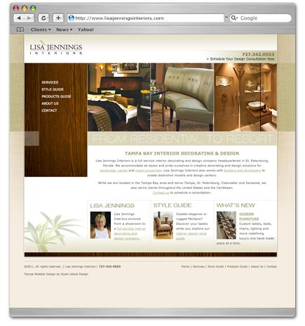 Lisa Jennings Interiors website