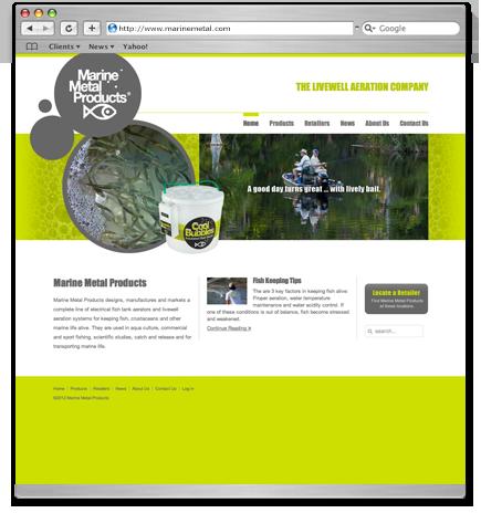 Marine Metal Products website