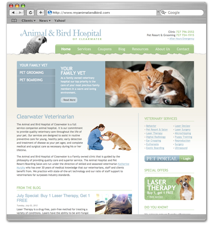 My Animal & Bird web design