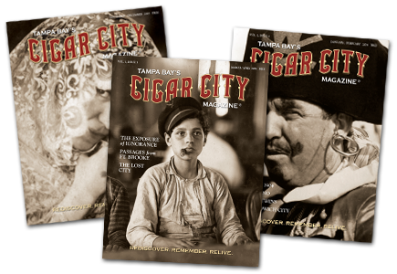 Cigar City Magazine cover designs