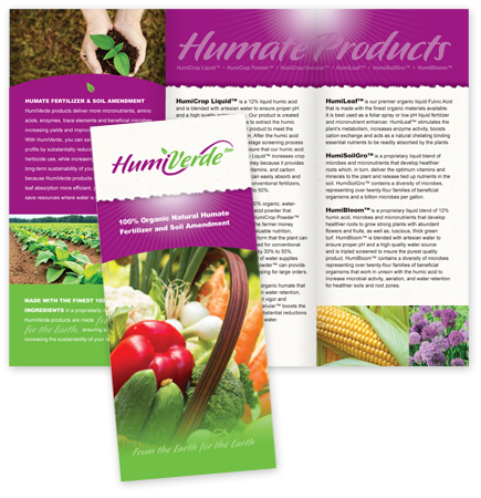 Brochure design for HumiVerde